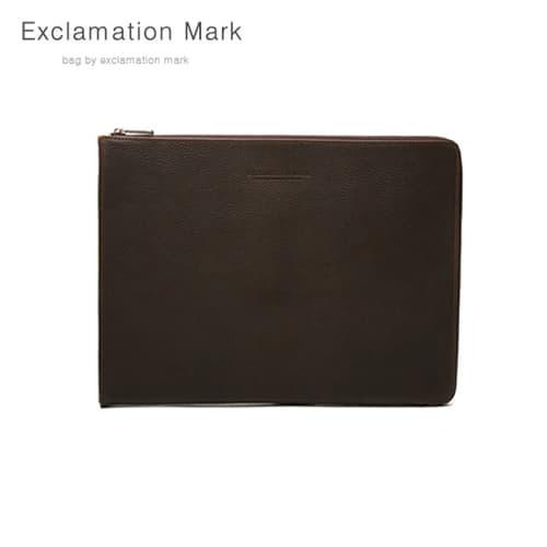 [익스클라메이션마크 ExclamationMark] E016-darkbrown / CLUTCH BAG