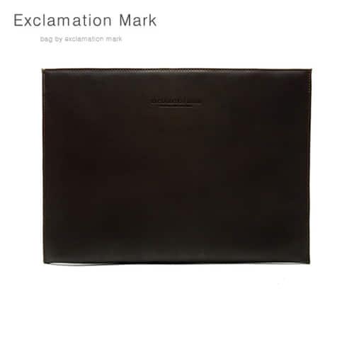 [익스클라메이션마크 ExclamationMark] E026-darkbrown / CLUTCH BAG
