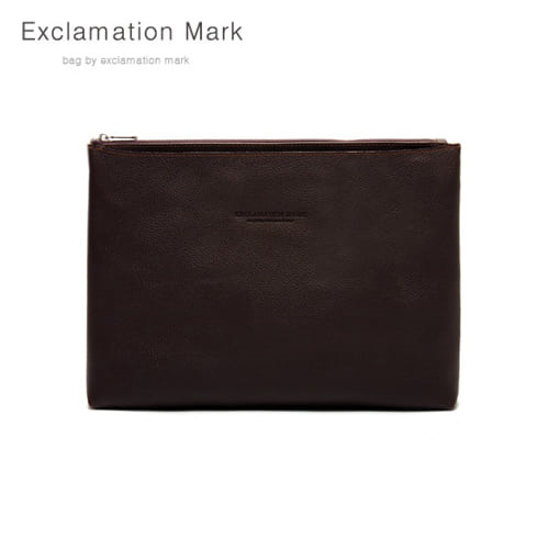 [익스클라메이션마크 ExclamationMark] E039-darkbrown / CLUTCH BAG