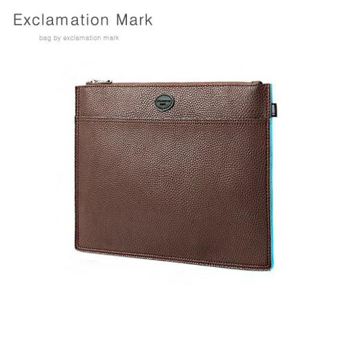 [익스클라메이션마크 ExclamationMark] E072-darkbrown / CLUTCH BAG