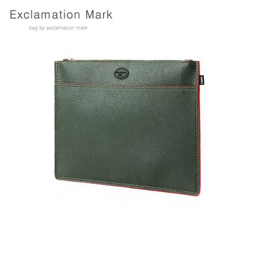 [익스클라메이션마크 ExclamationMark] E072-green / CLUTCH BAG
