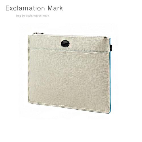 [익스클라메이션마크 ExclamationMark] E072-ivory / CLUTCH BAG