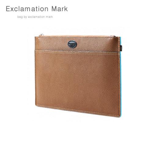 [익스클라메이션마크 ExclamationMark] E072-lightbrown / CLUTCH BAG