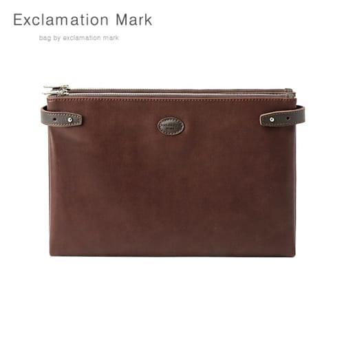 [익스클라메이션마크 ExclamationMark] E074-darkbrown / CLUTCH BAG