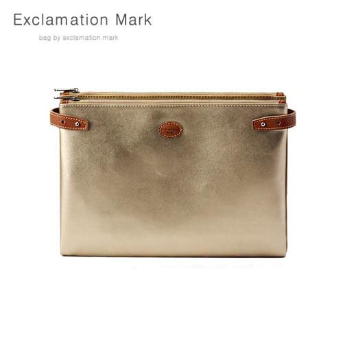 [익스클라메이션마크 ExclamationMark] E074-gold / CLUTCH BAG