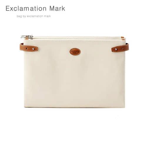 [익스클라메이션마크 ExclamationMark] E074-ivory / CLUTCH BAG
