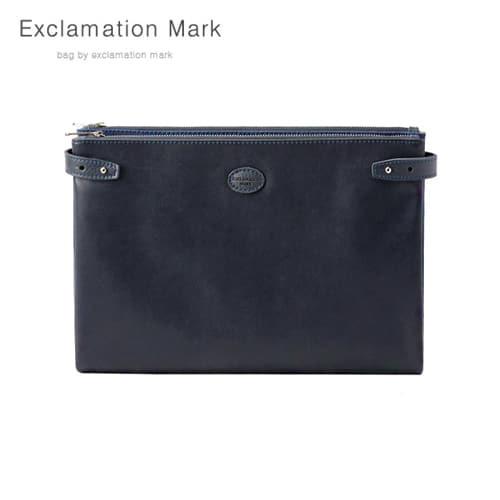 [익스클라메이션마크 ExclamationMark] E074-navy / CLUTCH BAG