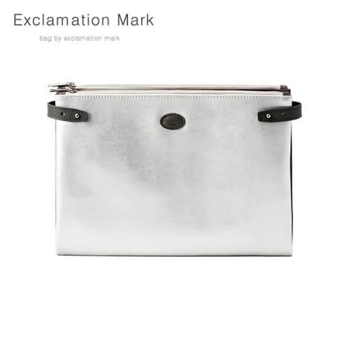 [익스클라메이션마크 ExclamationMark] E074-silver / CLUTCH BAG