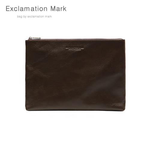 [익스클라메이션마크 ExclamationMark] E076-darkbrown / CLUTCH BAG