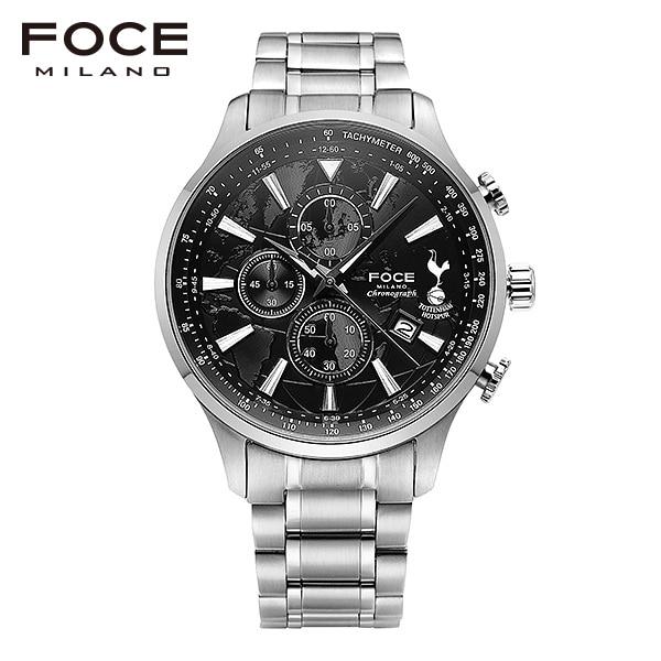 [포체 FOCE] FT1707BK 토트넘 Tottenham 신상 입고 남성용 메탈 시계 크로노그래프 46mm
