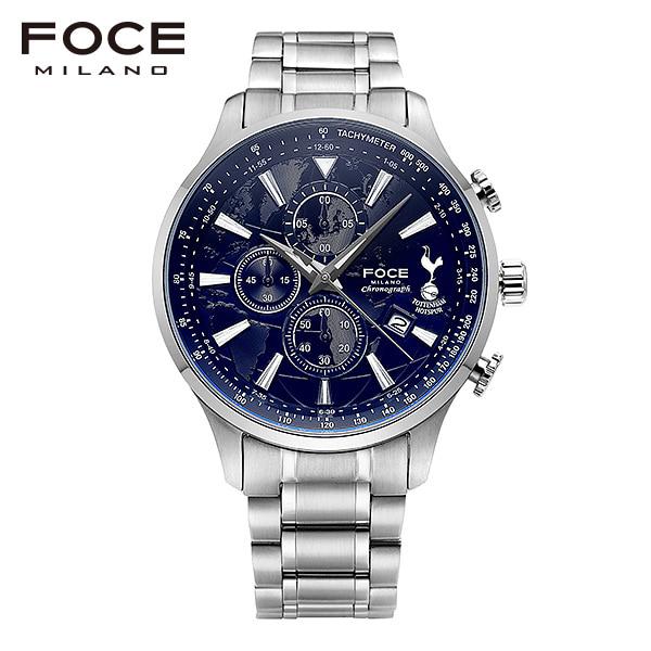 [포체 FOCE] FT1707BU 토트넘 Tottenham 신상 입고 남성용 메탈 시계 크로노그래프 46mm