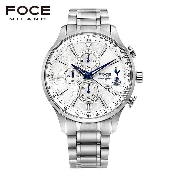 [포체 FOCE] FT1707WH 토트넘 Tottenham 신상 입고 남성용 메탈 시계 크로노그래프 46mm
