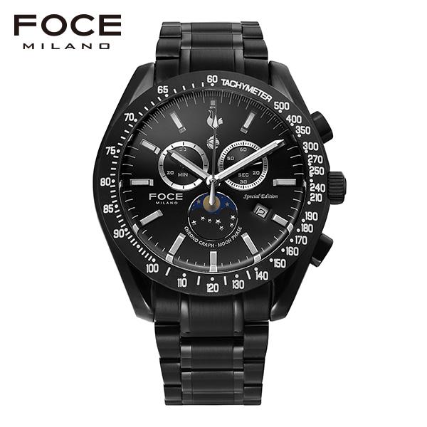 [포체 FOCE] FT2701BBK 토트넘 Tottenham  신상 입고 남성용 메탈 시계 크로노그레프 문페이즈 45.5mm