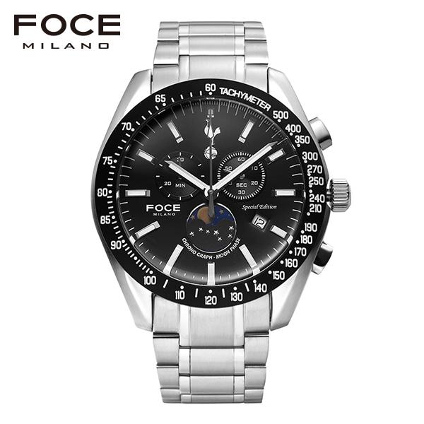 [포체 FOCE] FT2701BK 토트넘 Tottenham  신상 입고 남성용 메탈 시계 크로노그레프 문페이즈 45.5mm