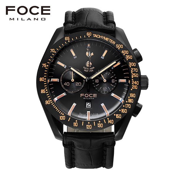 [포체 FOCE] FT2703L-BBG 토트넘 Tottenham  신상 입고 남성용 가죽 시계 크로노그레프 45.5mm