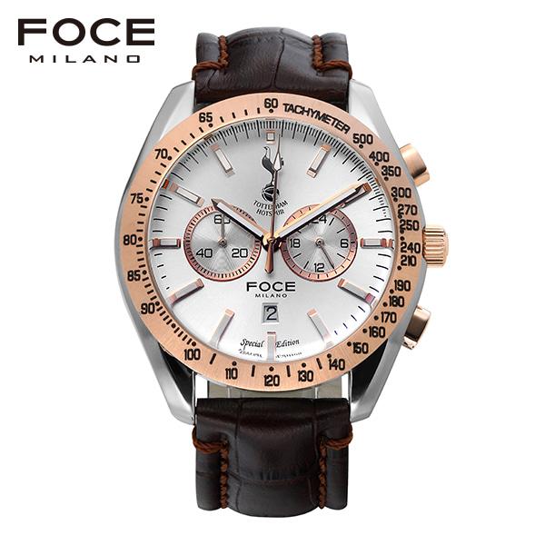 [포체 FOCE] FT2703L-WRG  토트넘 Tottenham  신상 입고 남성용 가죽 시계 크로노그레프 45.5mm
