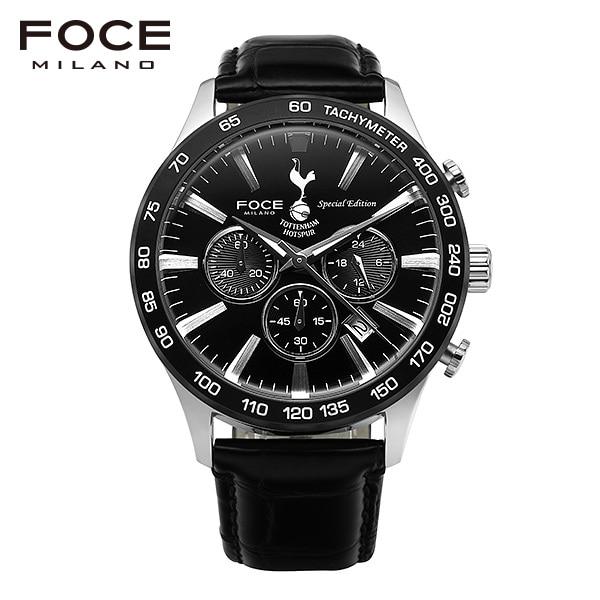 [포체 FOCE] FT2705L-BK 토트넘 Tottenham 신상 입고 남성용 가죽 시계 크로노그래프 44mm