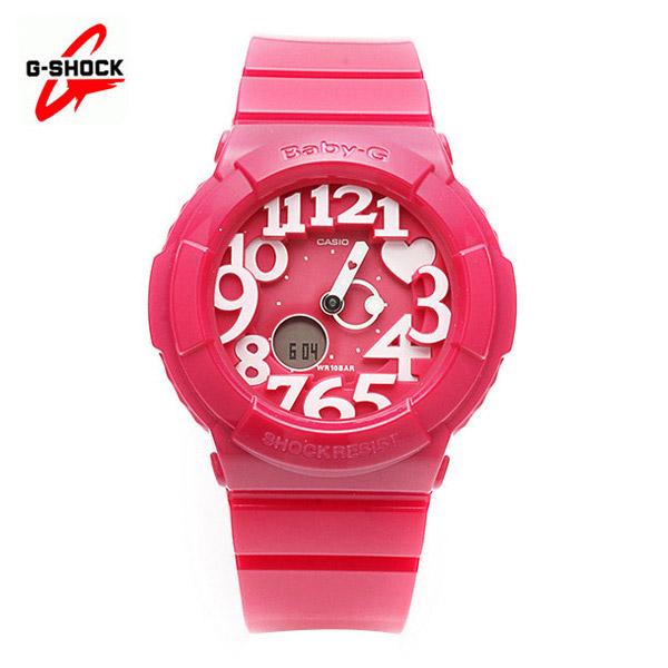 5월-) [지샥시계 G-SHOCK] BGA-130-4B / 베이비지 네온 다이얼 핑크
