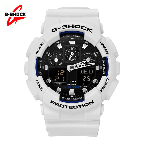 [지샥시계 G-SHOCK] GA-100B-7A / 빅페이스 범블비 화이트 타임메카