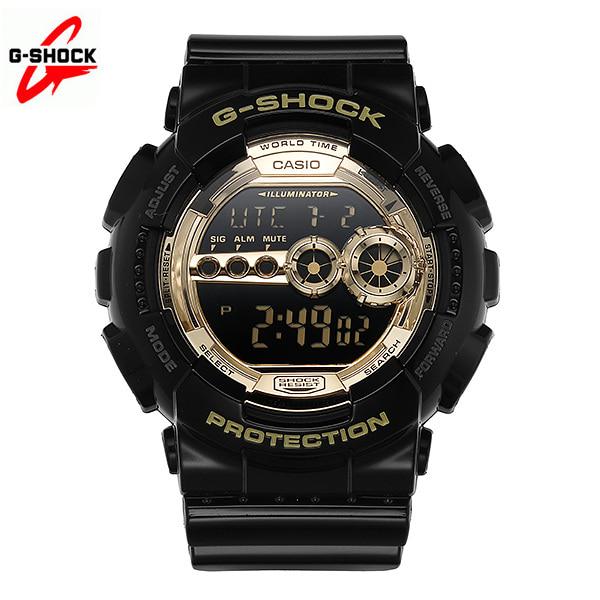 [지샥시계 G-SHOCK] GD-100GB-1 / BIG FACE 빅페이스 흑금 남성 우레탄시계 타임메카