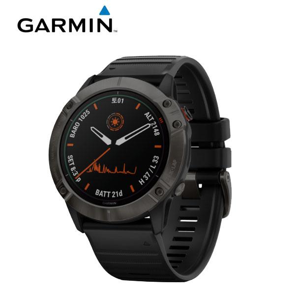 [가민 Garmin] Fenix 6X ProSolar / 피닉스 6X 프로솔라 티타늄 카본그레이 GPS 스마트워치 51mm 타임메카
