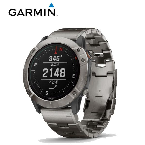 [가민 Garmin] Fenix 6X Pro Solar/ 피닉스 6X 프로솔라 화이트 티타늄 GPS 스마트워치 51mm 타임메카