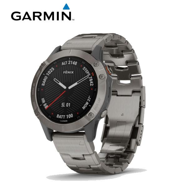 [가민 Garmin] Fenix 6 / 피닉스 6 사파이어 티타늄 그레이 GPS 스마트워치 47mm 타임메카