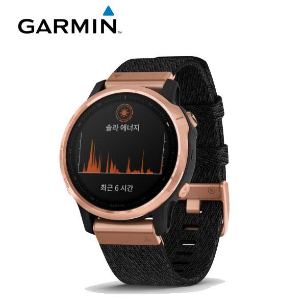 [가민 Garmin] Fenix 6S / 피닉스 6S 사파이어 로즈골드 / 나일론 밴드 GPS 스마트워치 42mm 타임메카