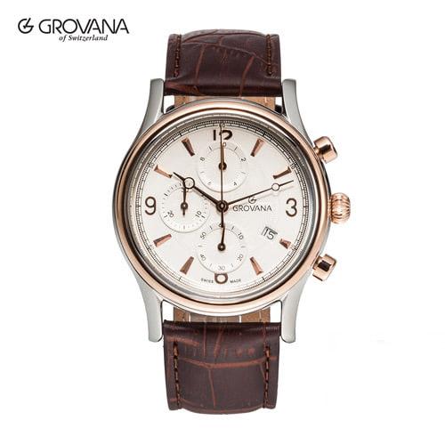 [그로바나시계 GROVANA] 1728.9552 / 남성시계 41mm자체발광 오피스 하석진시계 ( 커플시계 구매시 사은품증정 )