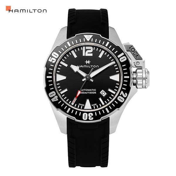 [해밀턴시계 HAMILTON] H77605335 / 카키 네이비 프로그맨 남성용 42mm