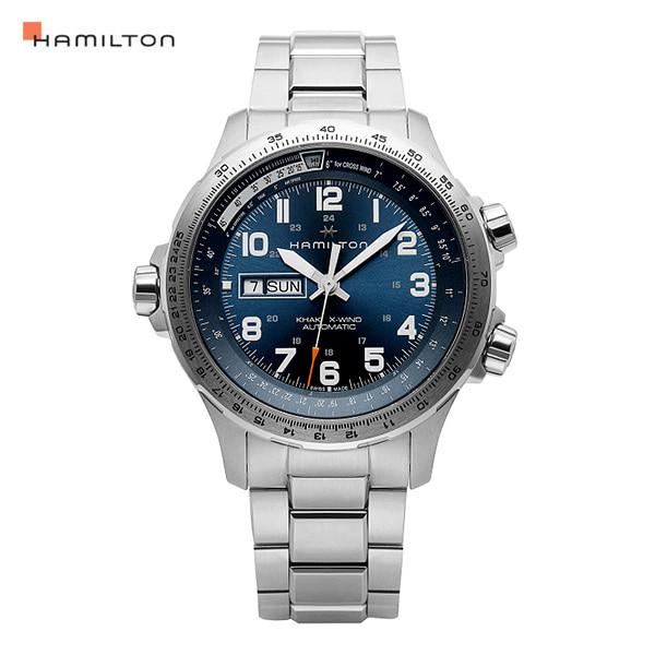 [해밀턴시계 HAMILTON] H77765141 / 카키 에비에이션(KHAKI AVIATION) X-Wind 오토매틱 남성 메탈시계 45mm 타임메카