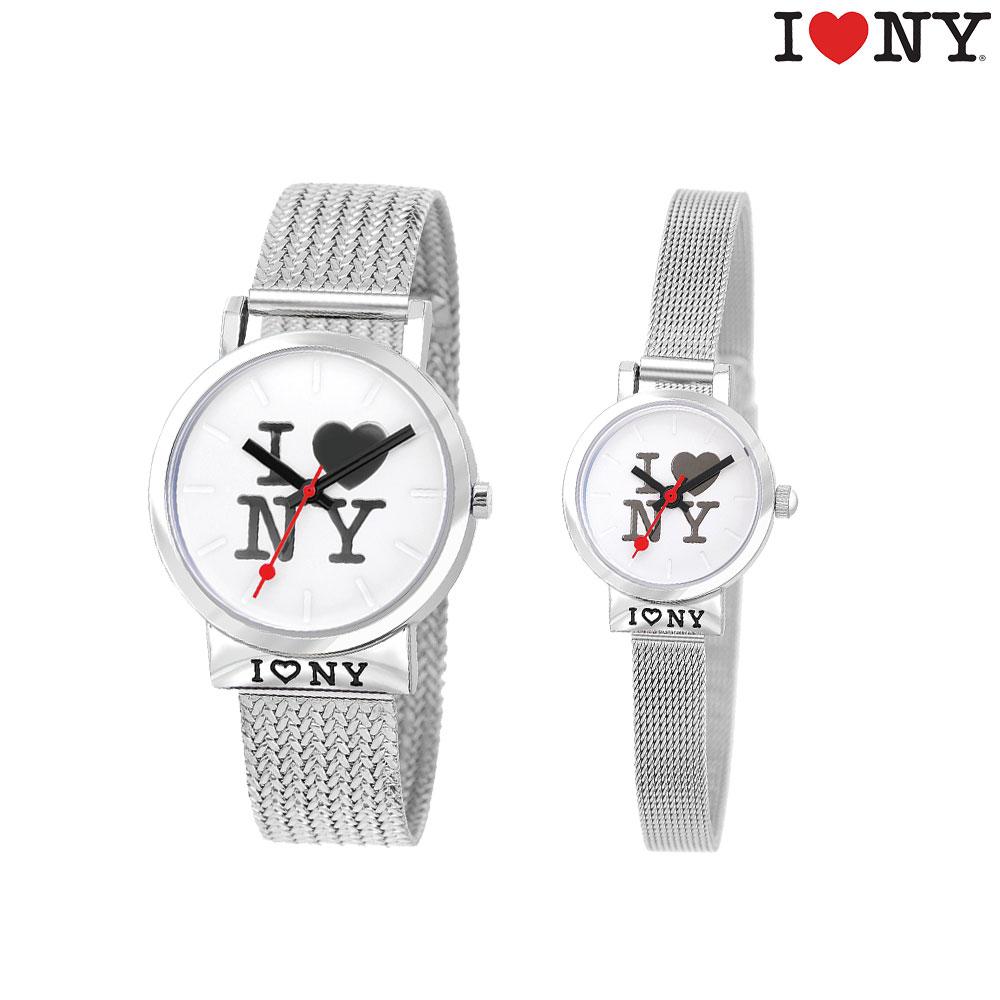 [아이러브뉴욕 I LOVE NEW YORK] NY10101 MANHATTAN + NY20101 CENTRAL PARK 메탈시계 세트 타임메카