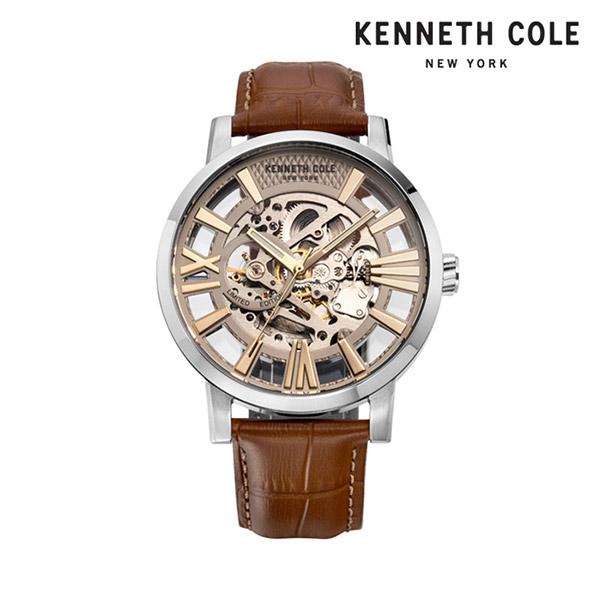 [케네스콜 KENNETH COLE] KC51018002 오토매틱 남성용 가죽시계 46mm 타임메카