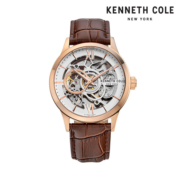 [케네스콜 KENNETH COLE] KC51021002 오토매틱 남성용 가죽시계 43mm 타임메카