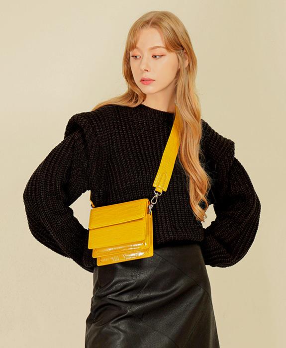 [록체 LOKCHE] 클레어 미니백 (LOK-0105)Claire Mini Bag -Yellow 타임메카