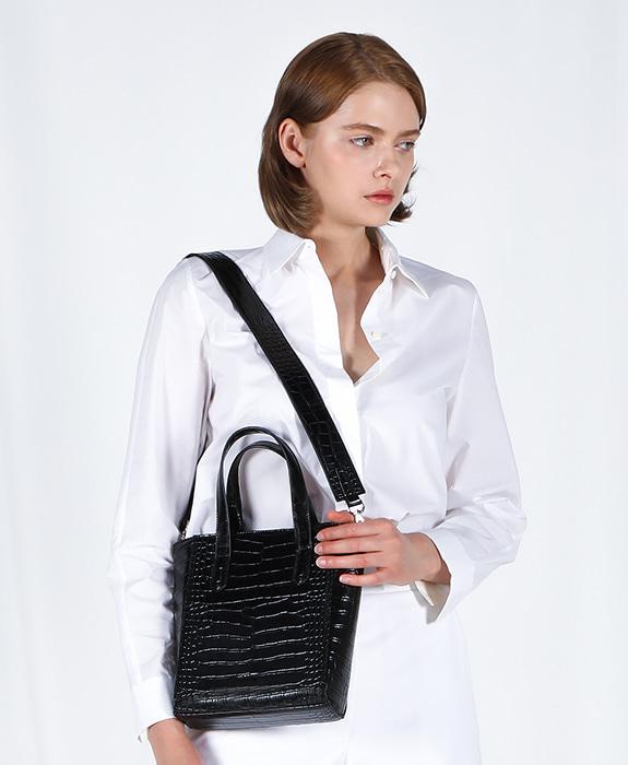 [록체 LOKCHE] 자넷 토트백 스몰 (LOK-0201)Janet Tote Bag Small -Black 타임메카