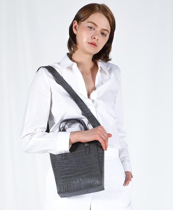 [록체 LOKCHE] 자넷 토트백 스몰 (LOK-0202)Janet Tote Bag Small -Charcoal 타임메카