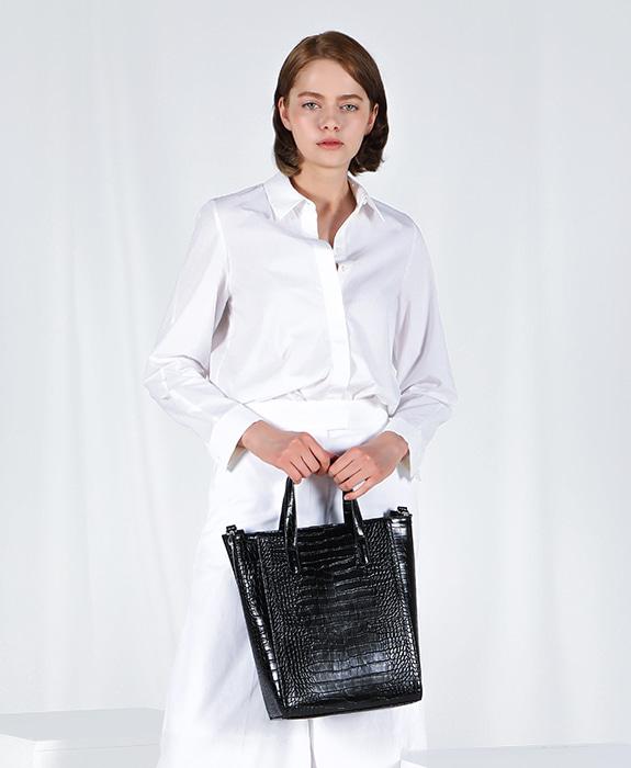 """[록체 LOKCHE] 자넷 토트백 라지 (LOK-0301)Janet Tote Bag Large -Black / """"보라"""" 착용가방"""