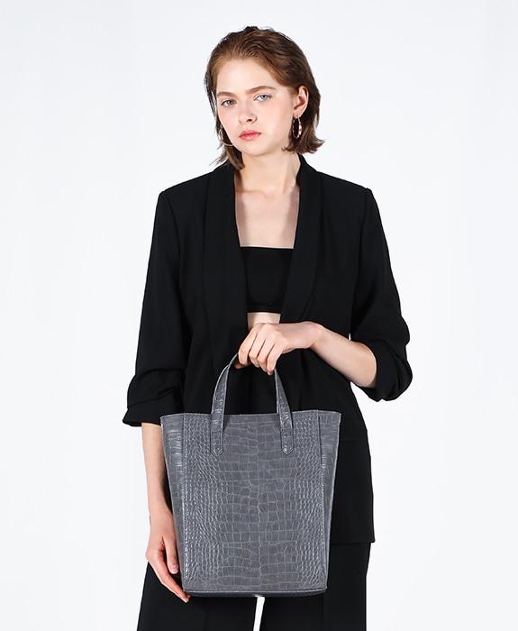 [록체 LOKCHE] 자넷 토트백 라지 (LOK-0302)Janet Tote Bag Large -Charcoal