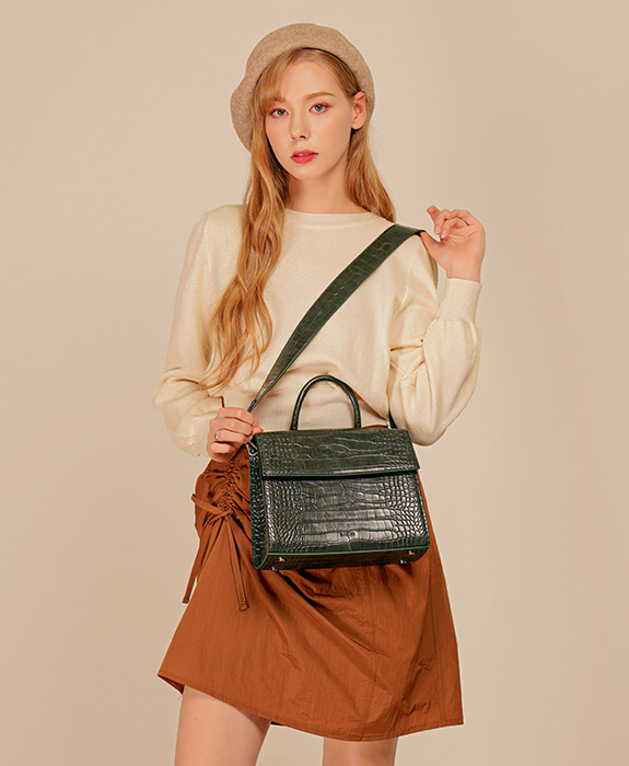 [록체 LOKCHE] 벨라 토트백 (LOK-0504)Bella Tote Bag -Green 타임메카