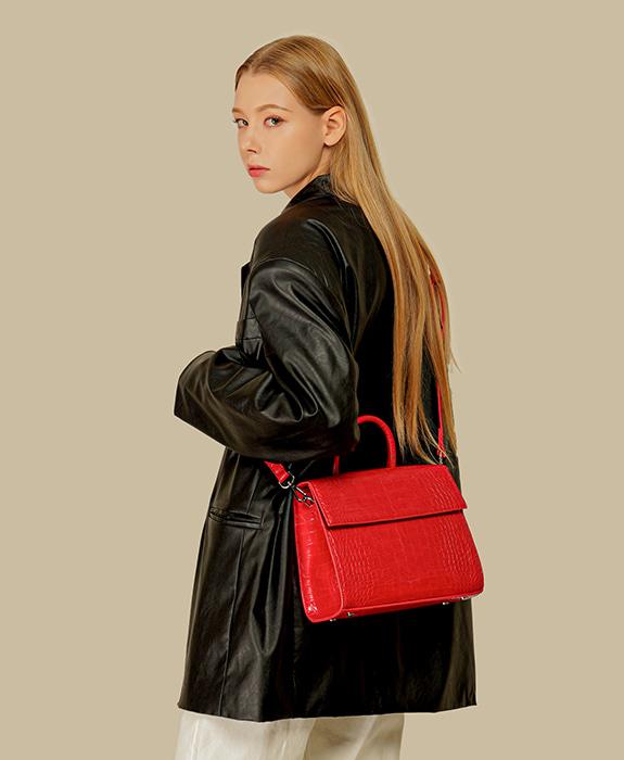 [록체 LOKCHE] 벨라 토트백 (LOK-0506)Bella Tote Bag -Red