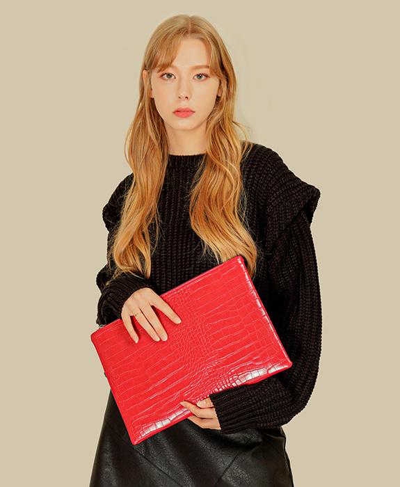 [록체 LOKCHE] 코니 클러치백 (LOK-0706) Connie Clutch Bag-Red