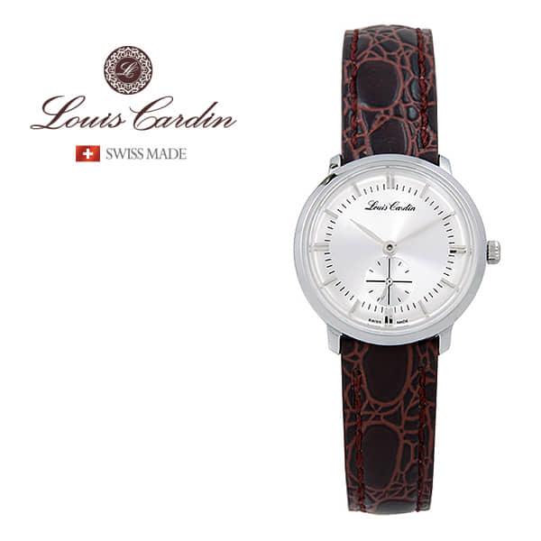 [루이스카딘 LOUIS CARDIN] LC003WTBKLI 스위스메이드 클래식 슬림 여성 가죽시계 28mm