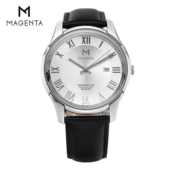 [마젠타 MAGENTA] MA117M-WH 남성용 가죽 시계