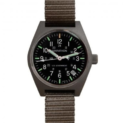 [마라톤 MARATHON] WW194015SG / General Purpose, Quartz with date-Green