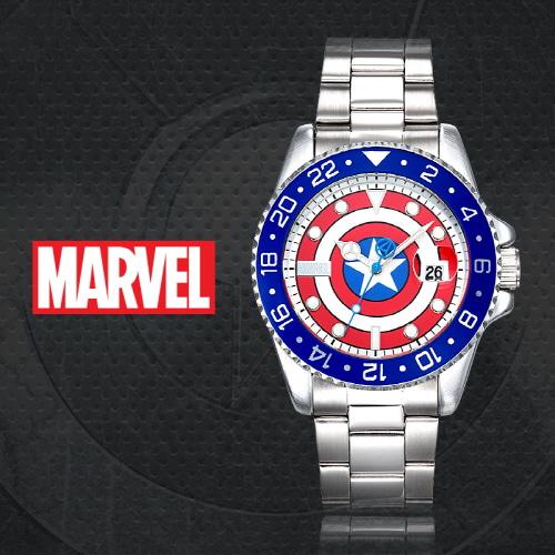 얼마줬스-) [마블 MARVEL] MA002-CAPP 캡틴아메리카 남성용 메탈밴드 43mm 얼마줬스-) [본사정품]