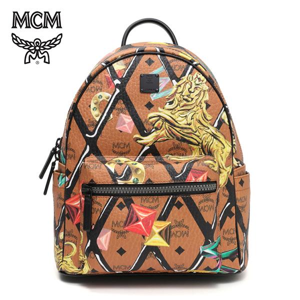 [엠씨엠 MCM] MMK7SVE77CO001 (MMK7SVE77)  / STARK MOTIF ROMBI BACKPACK SMALL 스타크 백팩