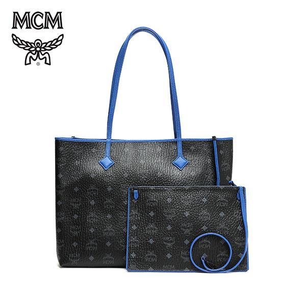 그뤠잇-) [엠씨엠 MCM] MWP6SKI01BK001 (MWP6SKI01)  / Kira Visetos East West Shopper Medium 쇼퍼백