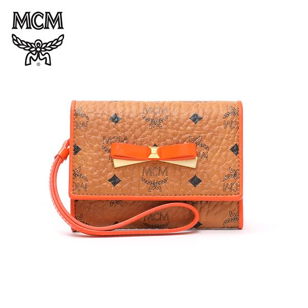 [엠씨엠 MCM] MYS7SLL07CO001 (MYS7SLL07)  / MINA VISETOS CARD CASE WITH WRISLET Mini 카드 케이스