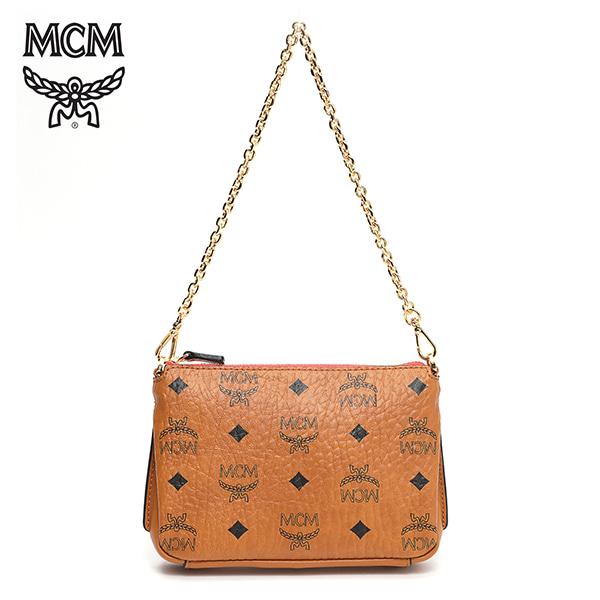 그뤠잇-) [엠씨엠 MCM] MYZ7SME01CO001 (MYZ7SME01)  / MILLIE VISETOS ZIP CROSSBODY SMALL 밀라 숄더백